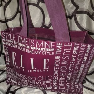 ELLE Strap Purple Handbag Wi Inside Pocket & ZipUp